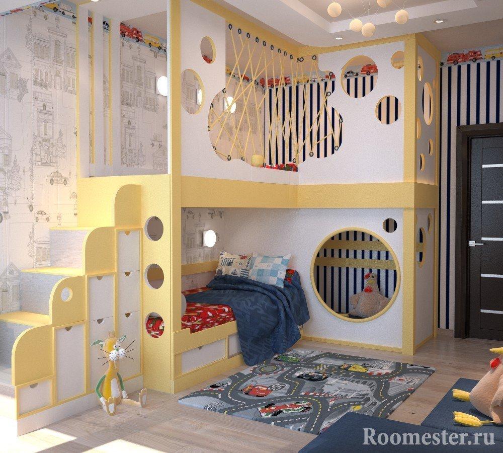 Спальный и игровой уголок
