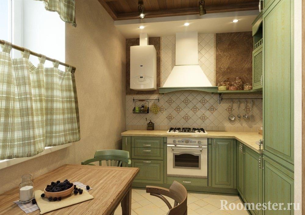Интерьер кухни 5 кв м в хрущевке с газовой колонкой