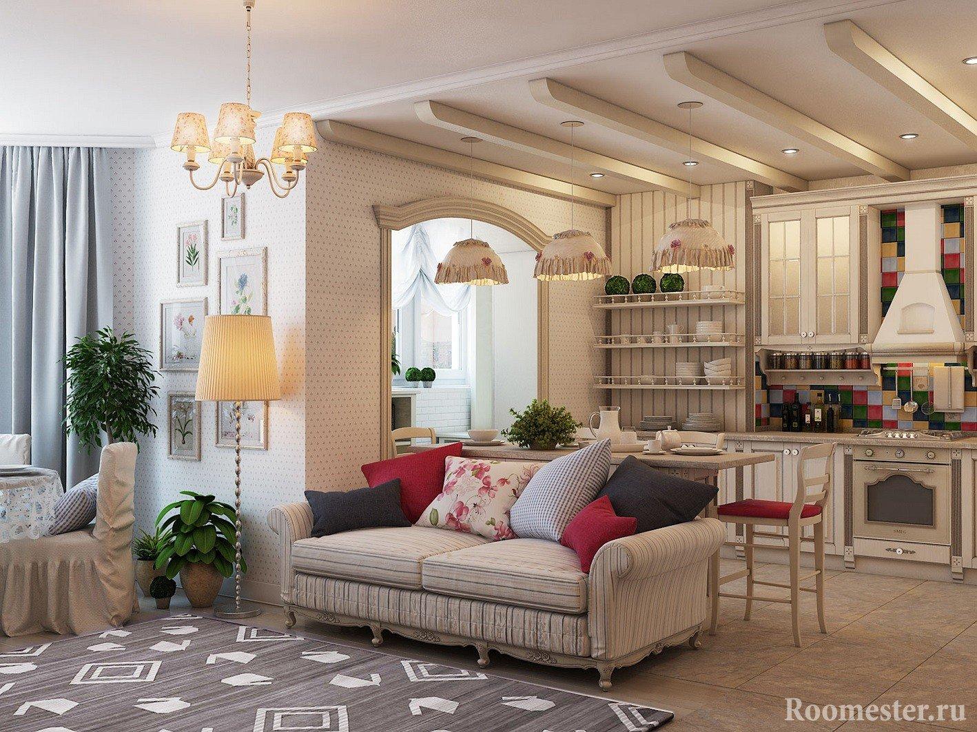 Зонирование комнаты с помощью дивана