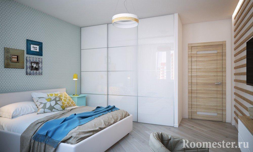 Шкаф-купе в спальне 10 кв м