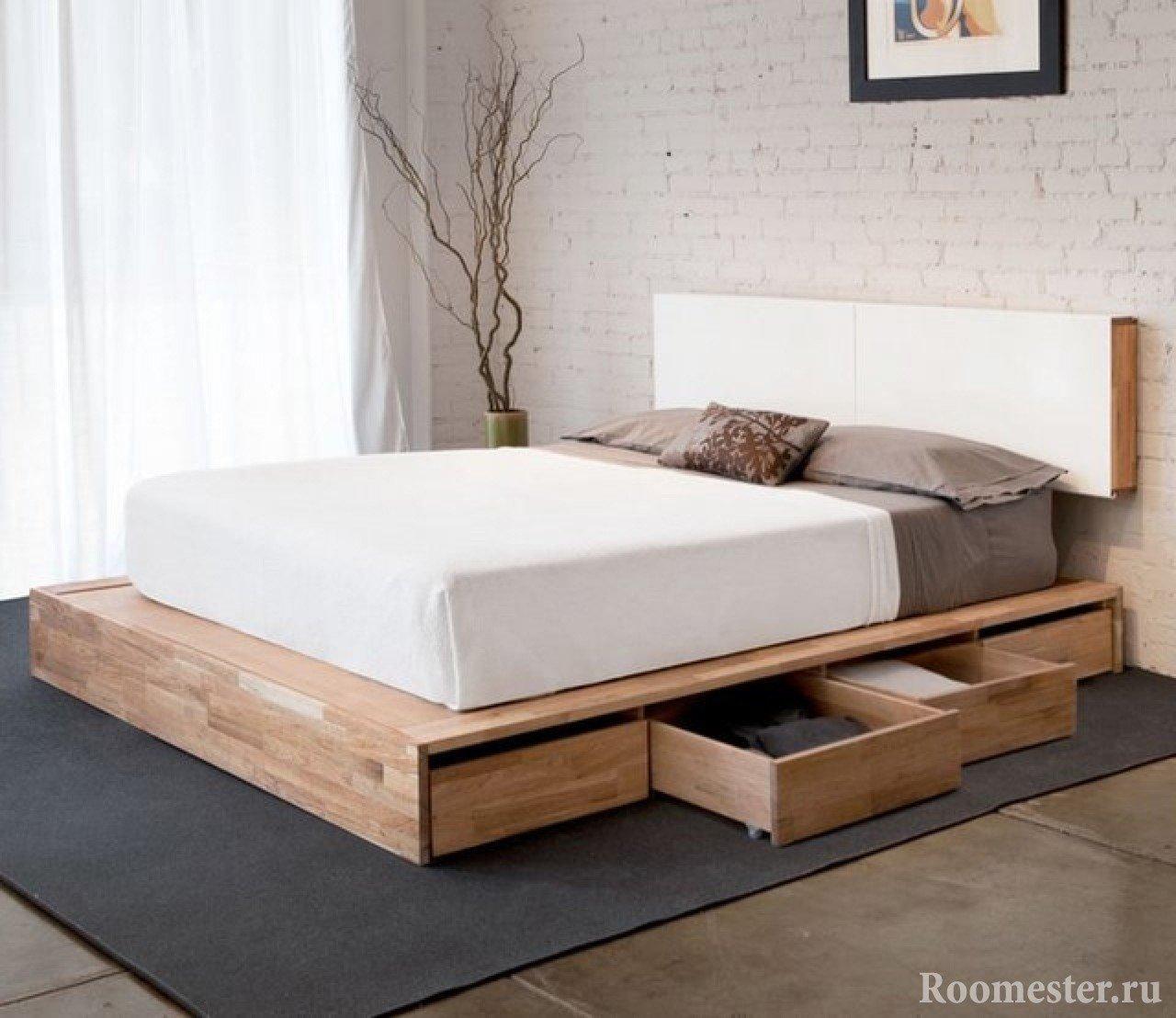 Выдвижные ящики из кровати