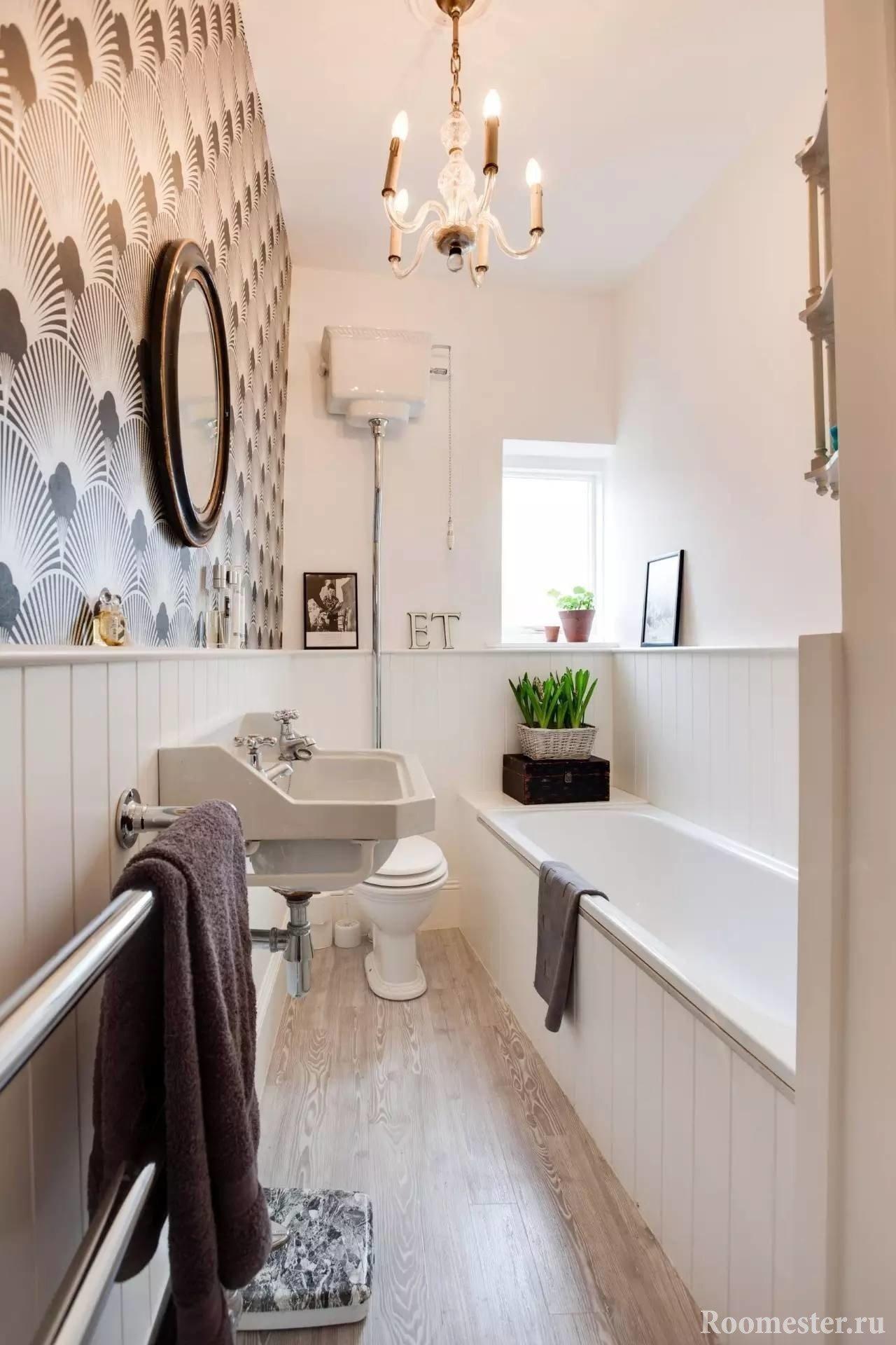 Водостойкий ламинат в ванной комнате