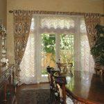 Гардины и французские шторы на широкое окно