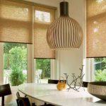 Полупрозрачные бамбуковые шторы