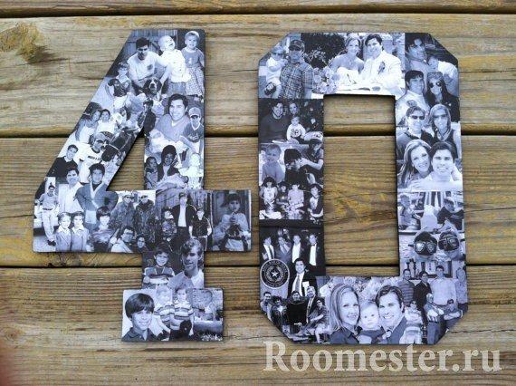 Украшение цифр фотографиями семьи и друзей
