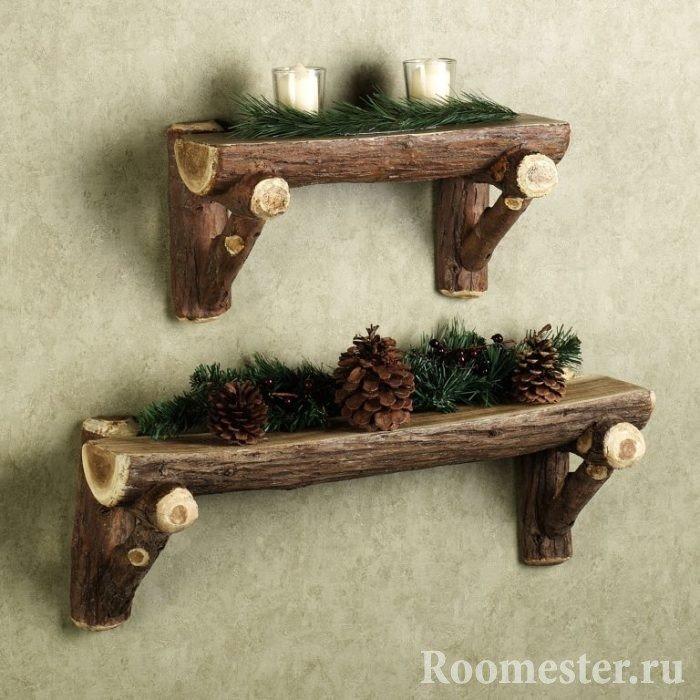 Декоративные полочки из дерева