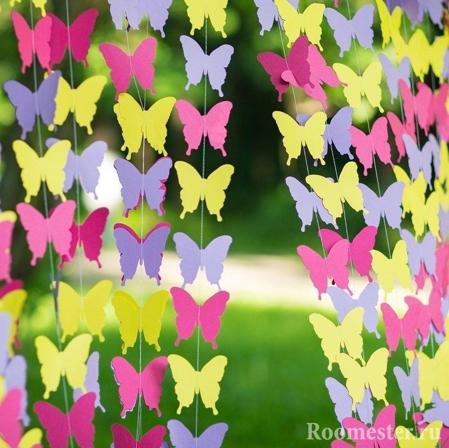Бабочки для гирлянд своими руками 890
