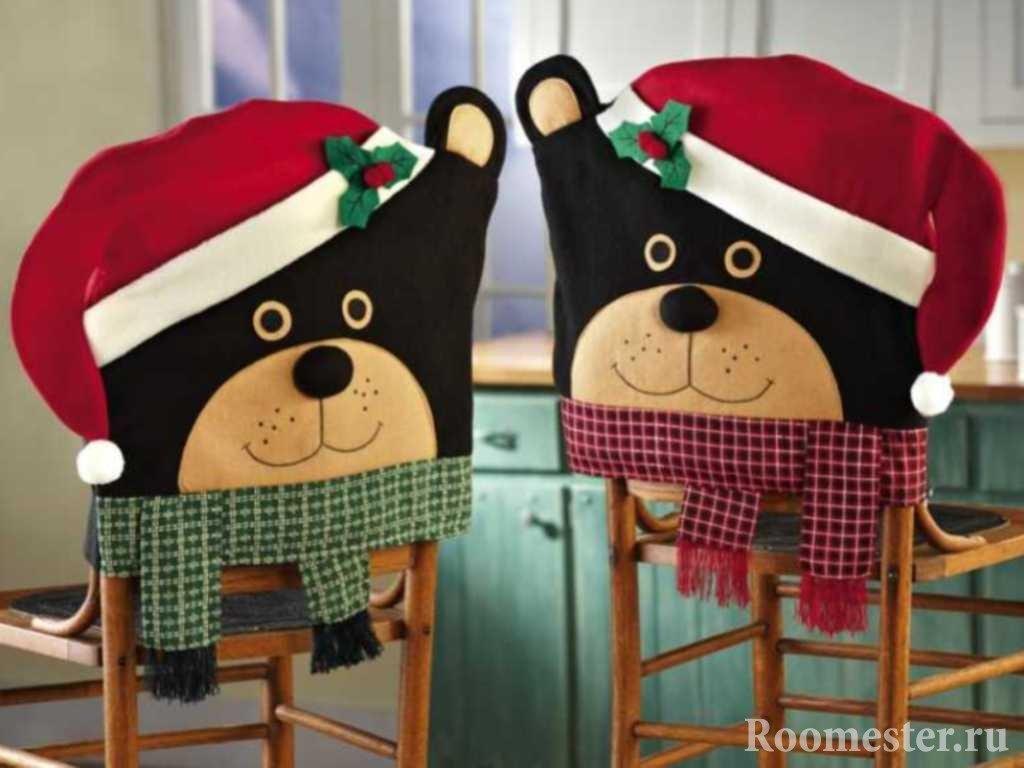 Чехлы-мишки на новый год