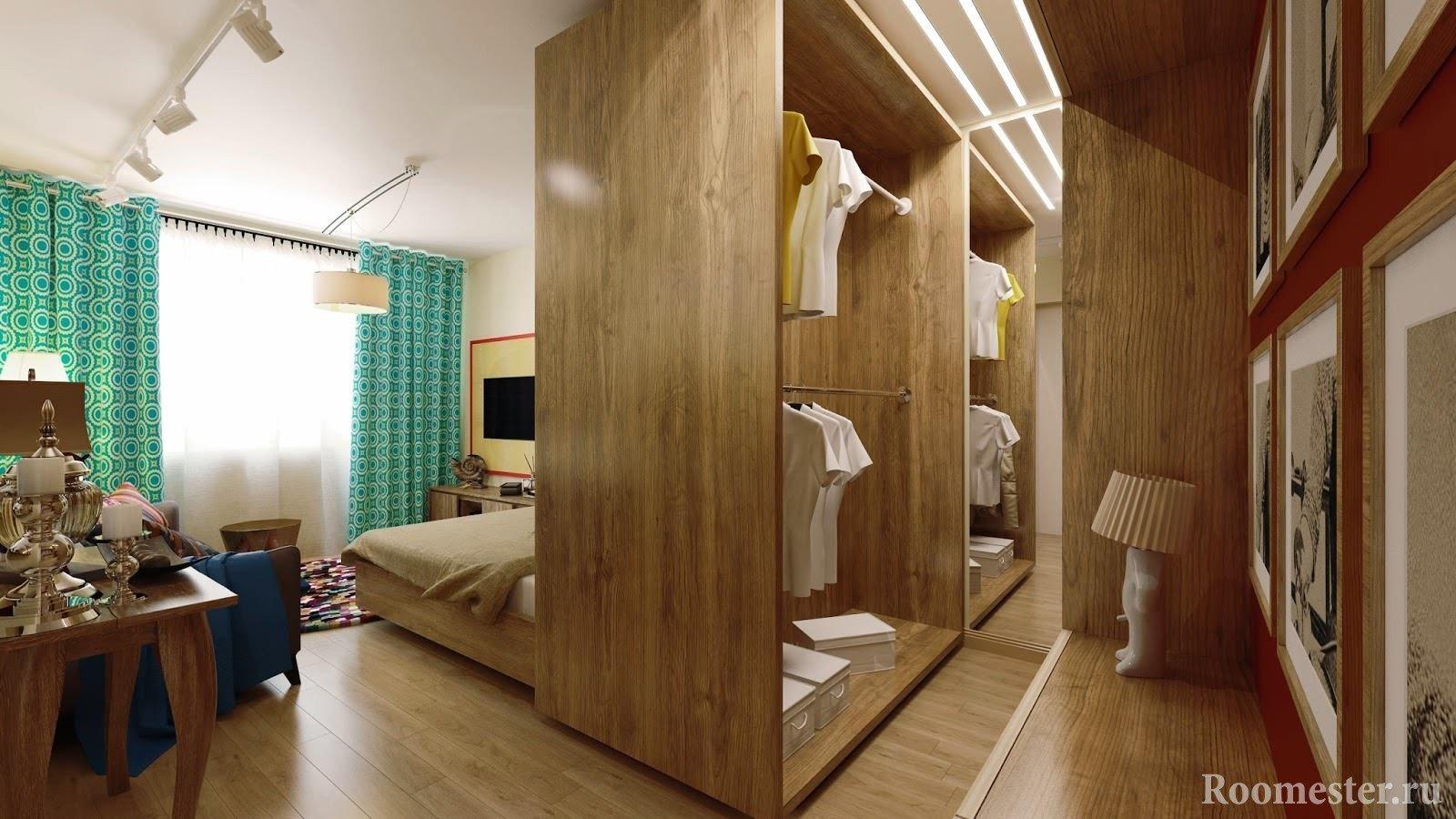Гардеробная комната со спальней