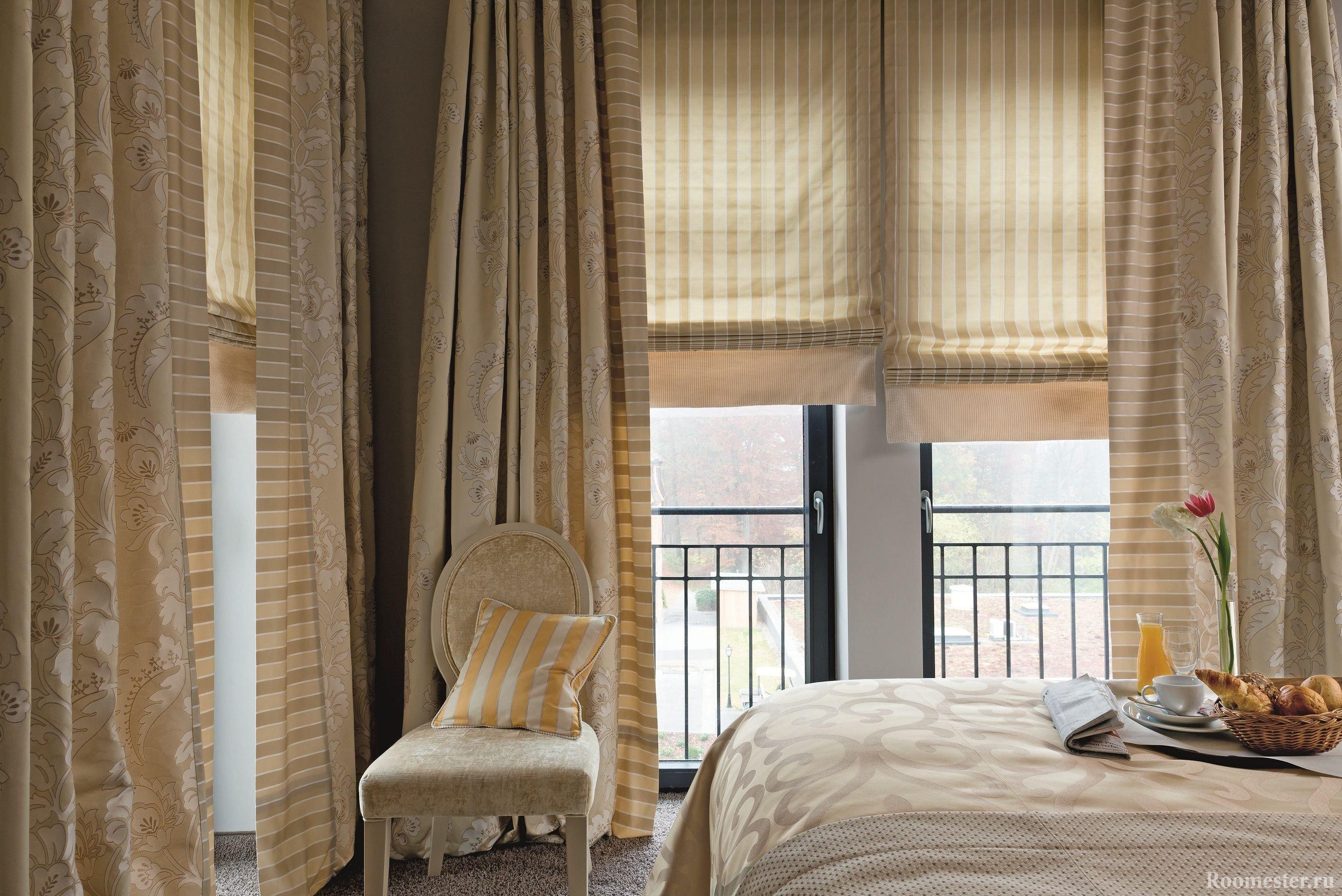 Римские шторы на панорамные окна