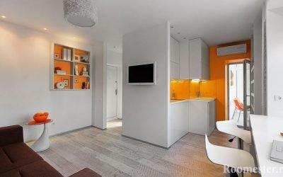 Продумываем планировку квартиры-студии 20 кв.м.