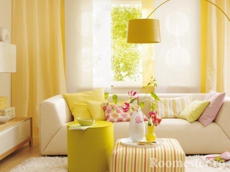 Интерьер квартиры с весенним настроением