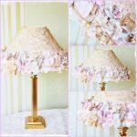 Декор лампы в золотистых цветах