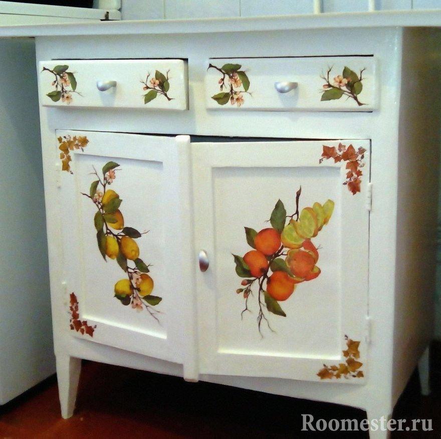 Обновить старую мебель своими руками фото до и после