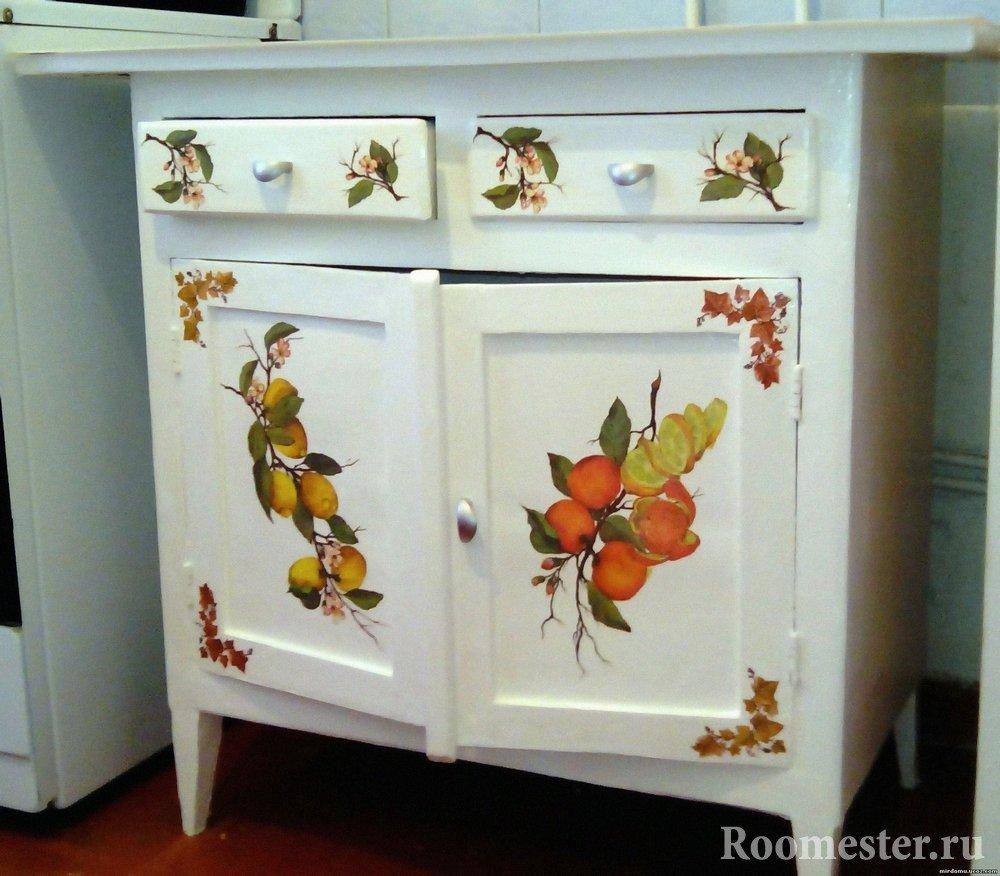 Обновить кухонную старую мебель