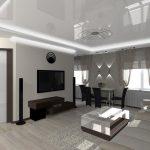 Комната со строгим оформлением интерьера