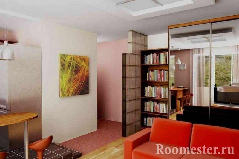 Яркое оформление дизайна комнаты