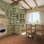 Мягкая цветовая палитра на кухне