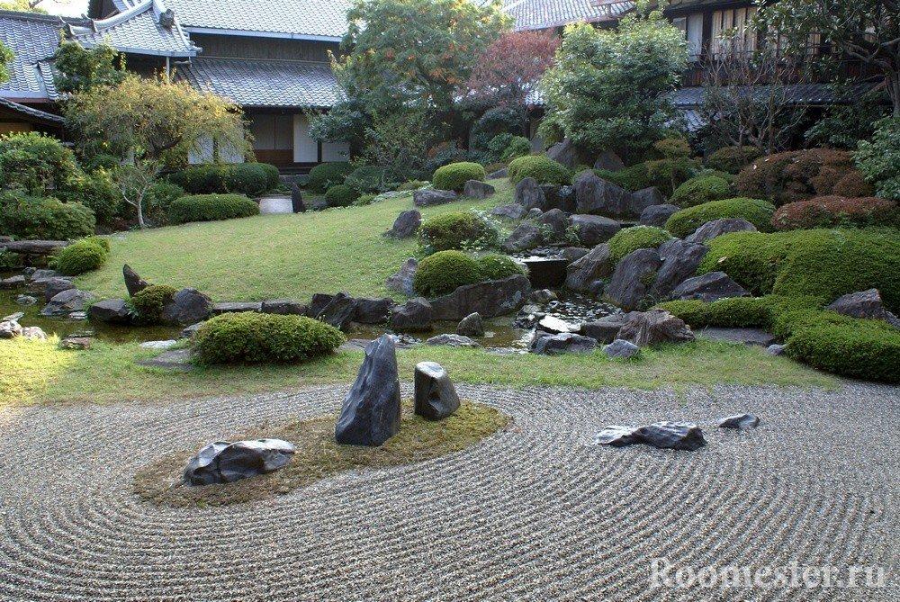 Камни и кусты