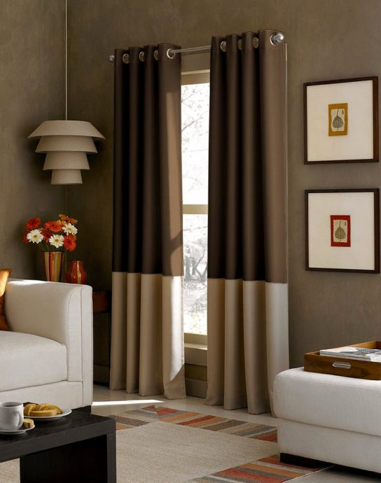 Color block curtain panels 2