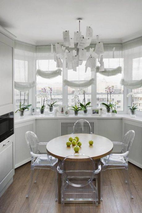 Белая кухня п 44т дизайн проект