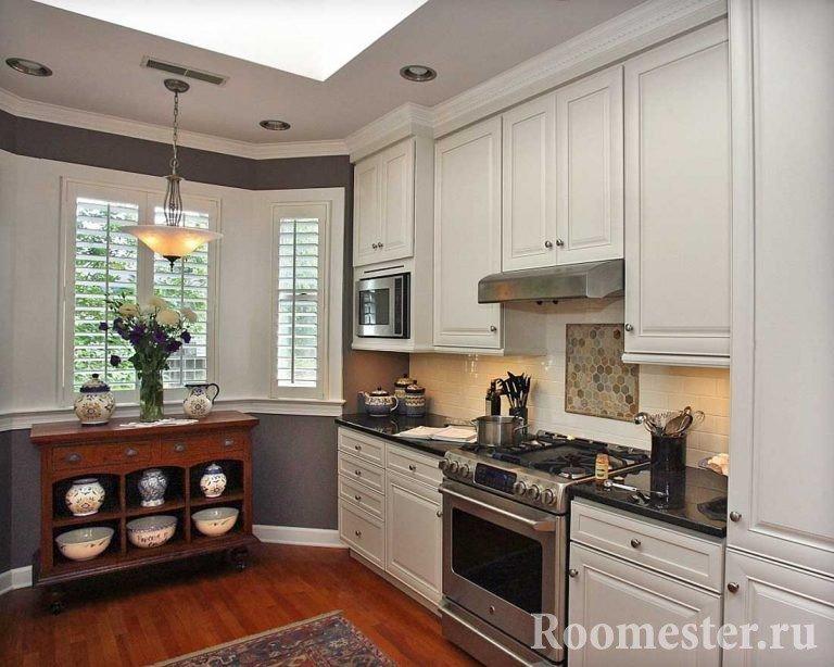 Кухня 13 кв метров с эркером идеи для кухни интерьеры фото