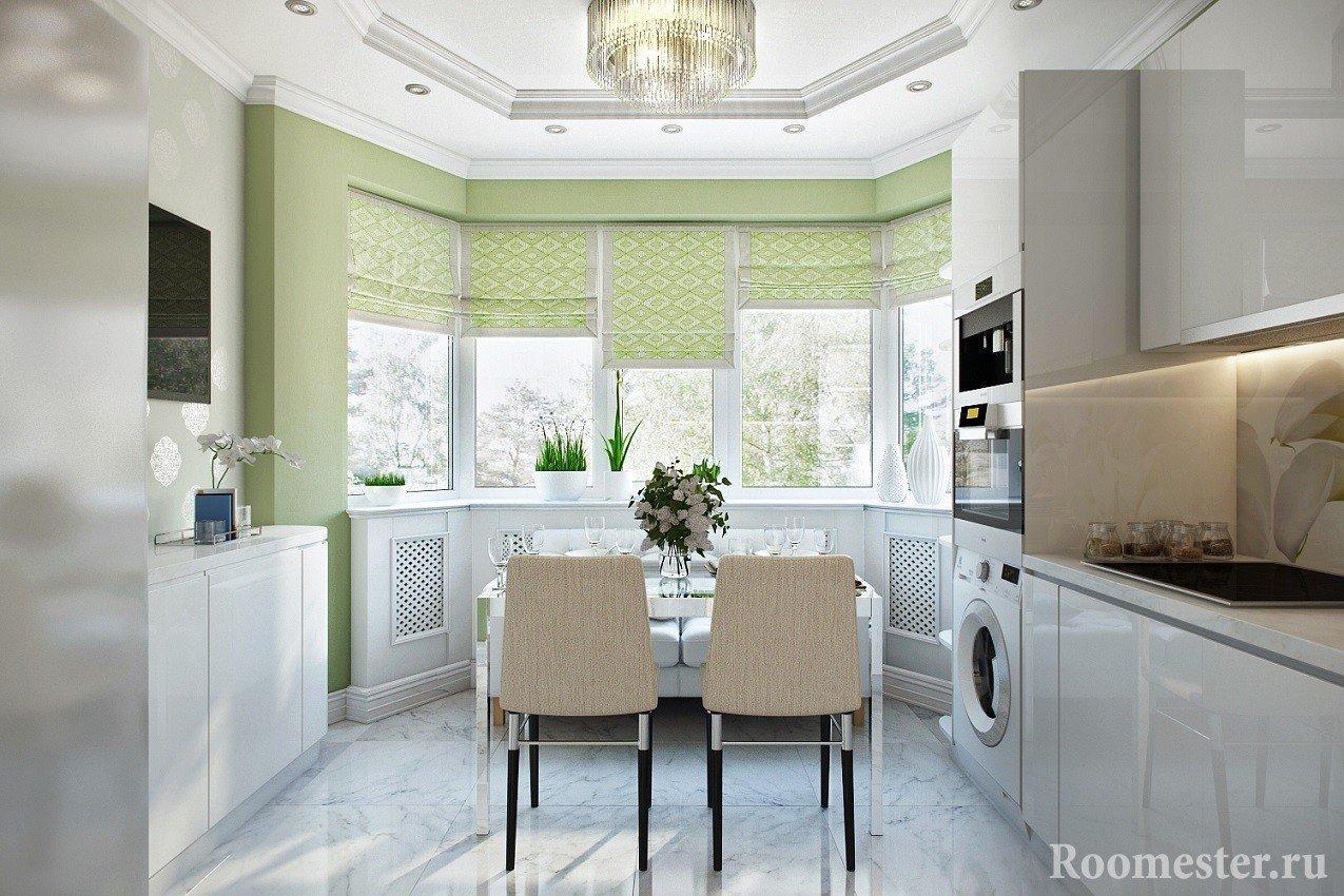Дизайн кухни с эркером - примеры интерьера и планировки на фото