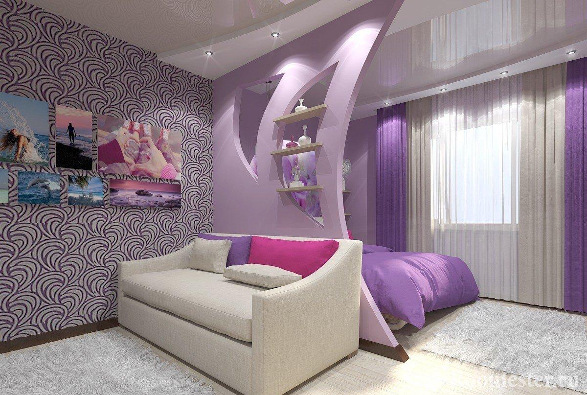 Как из одной комнаты сделать спальню и гостиную фото