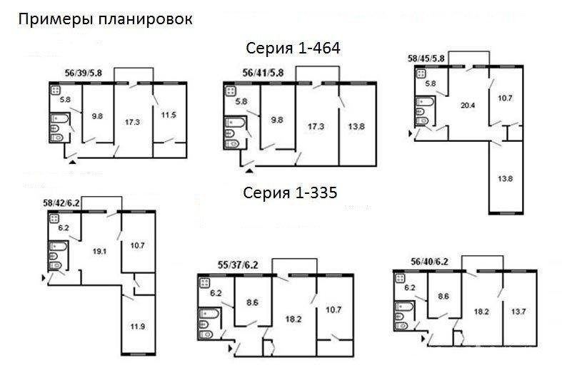 Примеры планировок