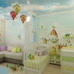 Люстры в форме шаров в детской