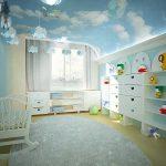 Небо на потолке детской