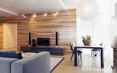 Ламинат на стене в интерьере — креативное решение