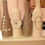 Декор на бутылках разной формы