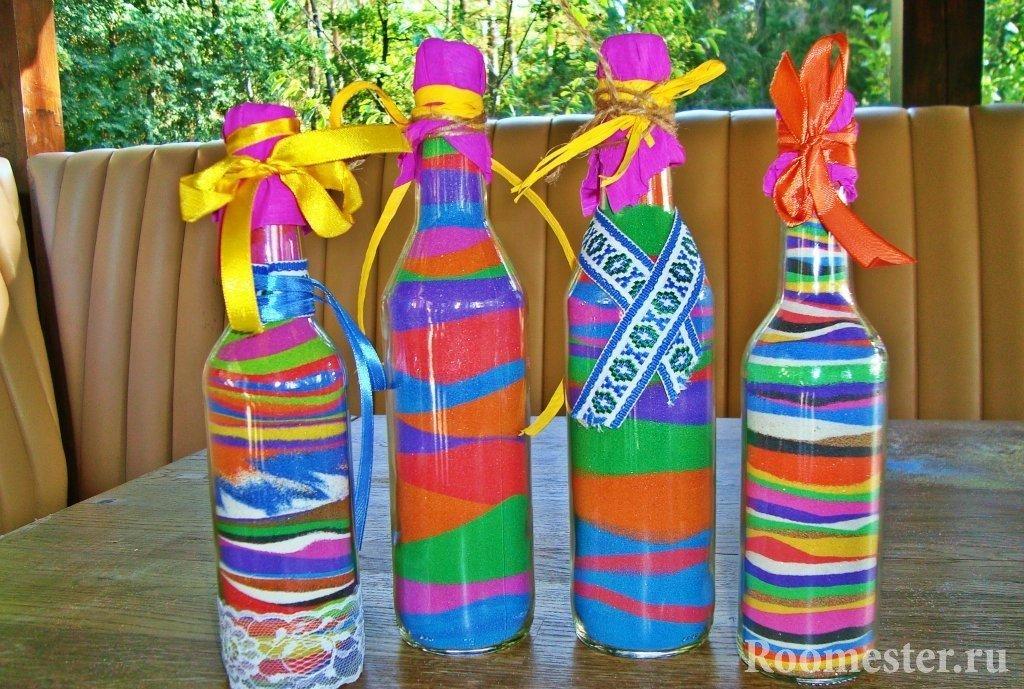 Яркие бутылки