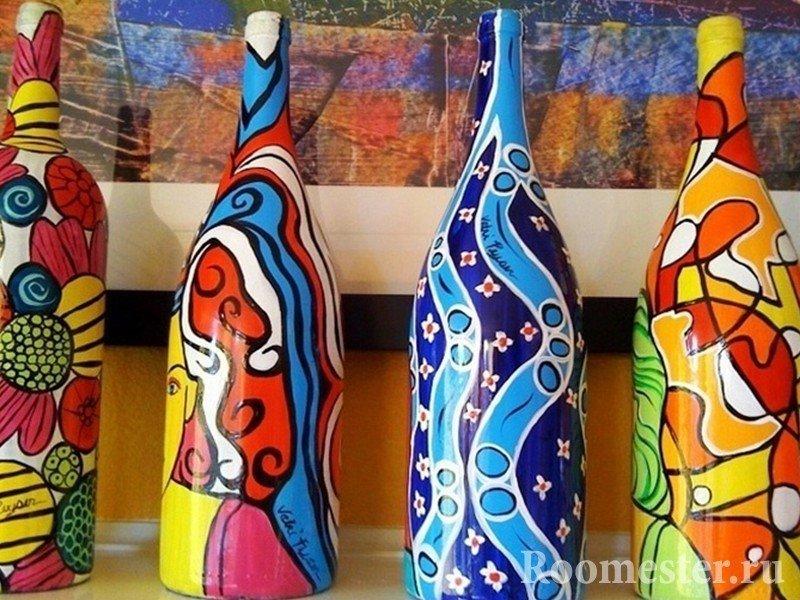 Бутылки с ярким оформлением