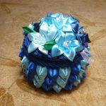 Сине-голубая шкатулка