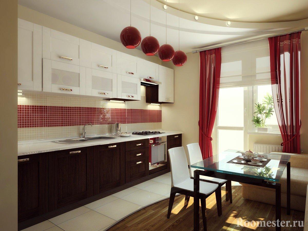 Подвесные люстры на кухне
