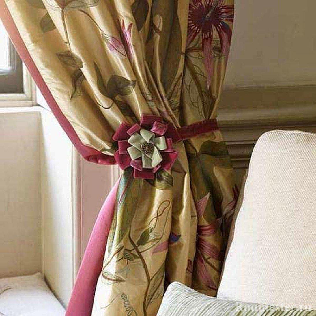 Как оригинально украсить шторы своими руками? (20 фото) 34
