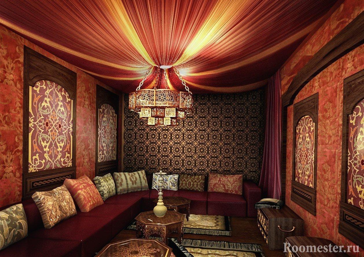 Дизайн интерьера в восточном стиле фото