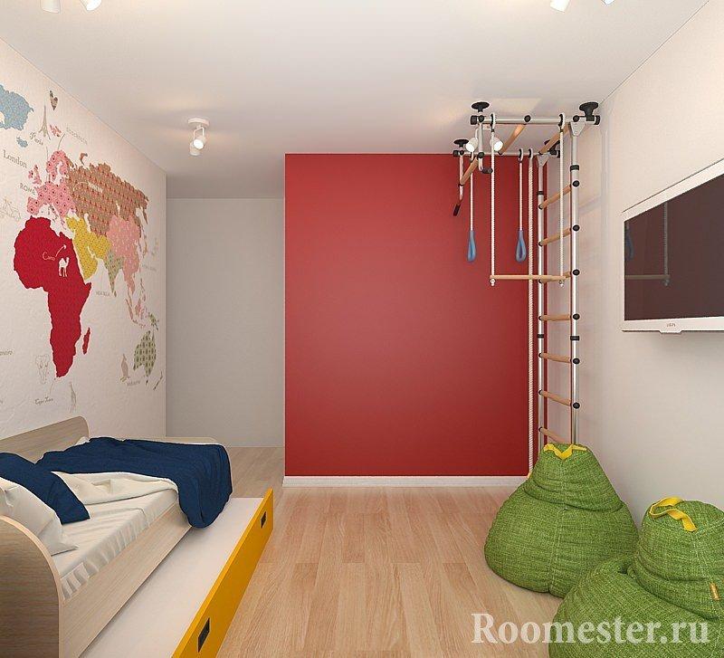 Шведская лестница в комнате