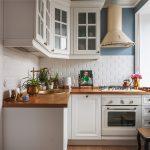 Стенка под кирпич в интерьере кухни