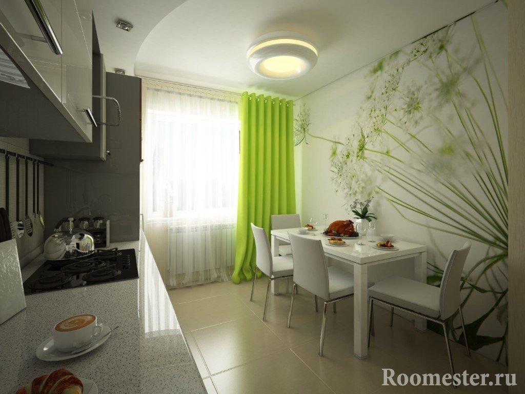 Одуванчики на стене кухни