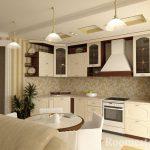 Три люстры на кухне