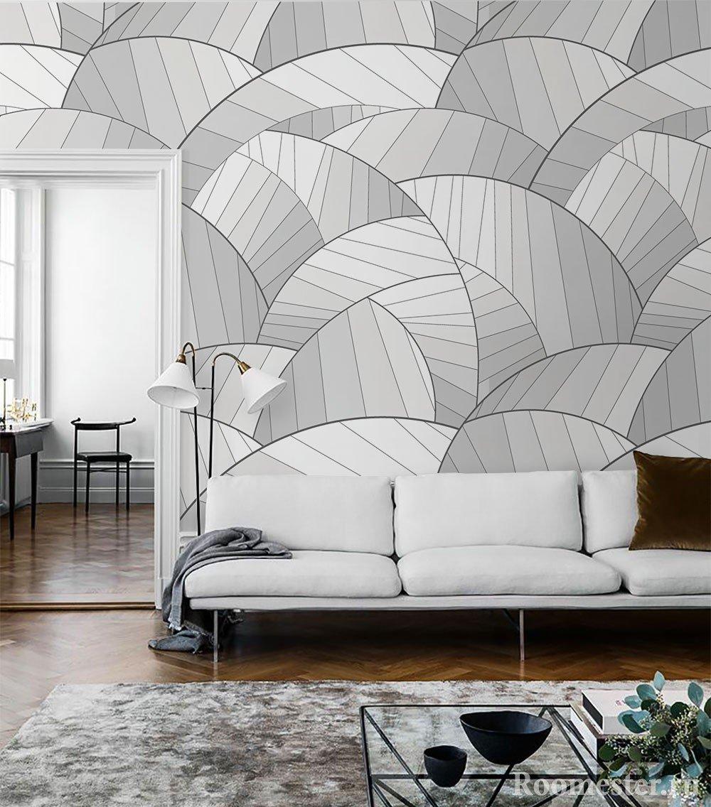 Геомерический рисунок на стенах поможет увеличить пространство комнаты