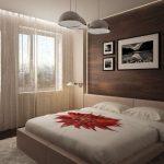 Подвесные люстры над кроватью
