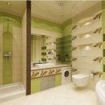 Полки с подсветкой в ванной