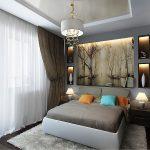 Полки с подсветкой спальне