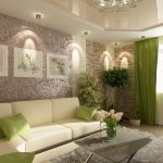 Потолок со светильниками