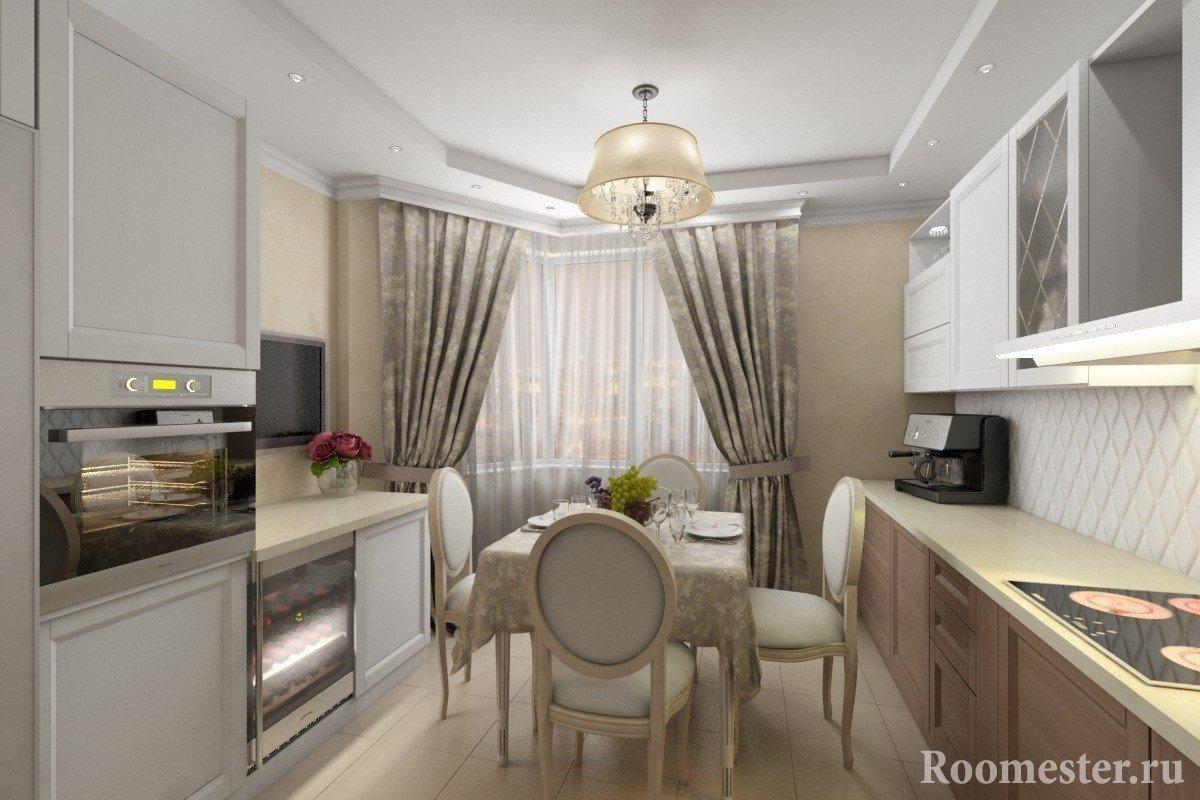 Дизайн кухни для п 44т