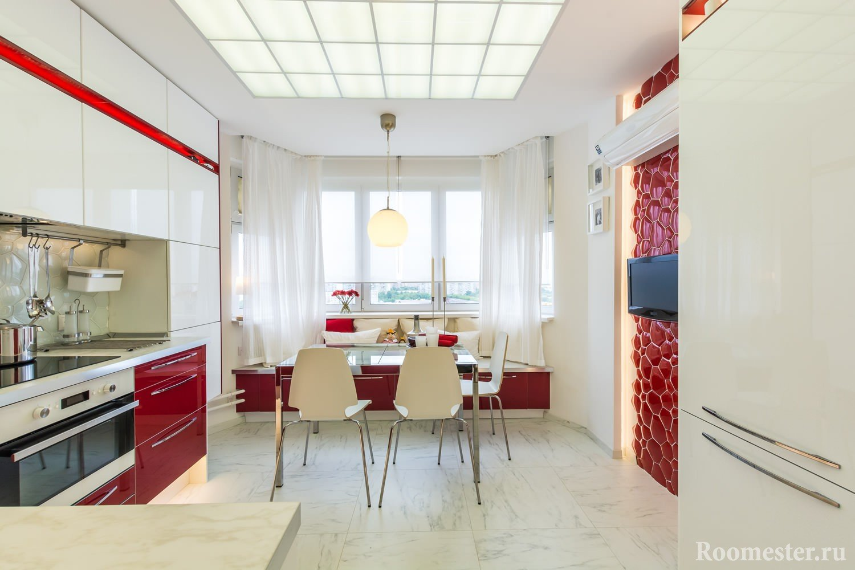 Дизайн кухни 13 кв м - проекты интерьеров 55 фото примеров